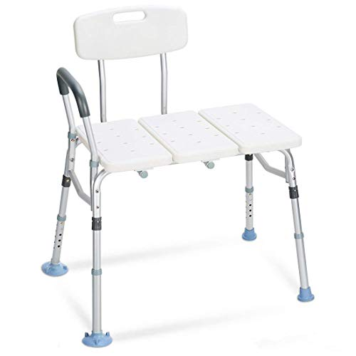 Bariatric Bath Aids - OasisSpace Tub Transfer Bench 400 lb - Heavy Duty Bath & Shower Transfer Bench - Adjustable Handicap Shower Chair with Reversible Backrest - Medical Bathroom Aid for Disabled, Seniors, Bariatric
