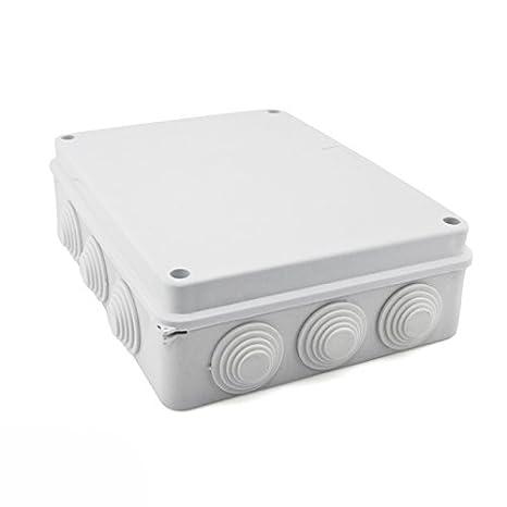Caja de empalme superficie gris estanca 255x200x80mm IP65: Amazon.es: Bricolaje y herramientas