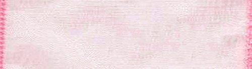 1 Pink Ribbon - Morex Ribbon Wired 1-Inch Chiffon Ribbon with 25-Yard Spool, Light Pink