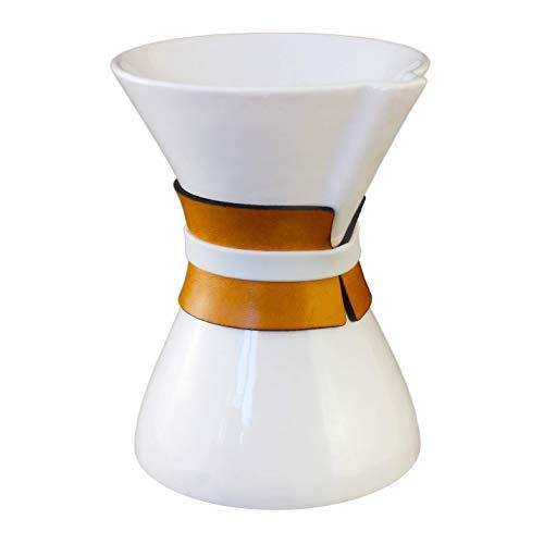 Ceramic Pour Over Coffee Dripper - Porcelain Single Serve Server Pot