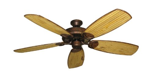 Riviera Traditional Ceiling Fan - Riviera II Tropical Ceiling Fan in Burnished Copper with 52