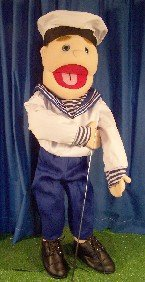 Ventriloquist Costume Boy (Navy Sailor Boy Full Body Puppet)