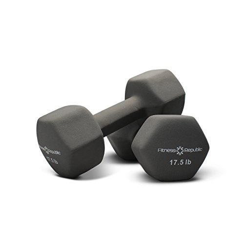 Fitness Republic Neoprene Coated Dumbbells Set Hex Hand Weights
