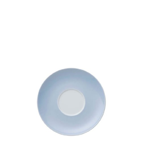 (Thomas Sunny Day Saucer for Cappuccino Cup 380 ml, Porcelain, Pastel Blue, Dishwasher Safe, 16.5 cm, 14671)