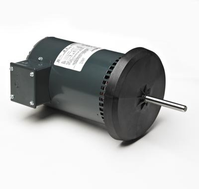 Marathon X447 48Y Frame Open Air Over 48A11O1642 Condenser Fan Motor 0.8 hp, 1075 rpm, 200-230/460 VAC, 1 Phase, 1 Speed, Ball Bearing, Permanent Split Capacitor, Belly Band Mount (Air Open Over Condenser Fan)