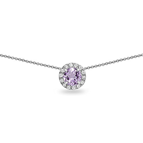 8c3f84780 THEHORAE Jewelry Set Rose White Gold CZ Pendant Square Necklace Stud ...