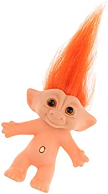 10cm Nude Lucky Troll Doll Mini Action Figures Toy Collection Cake Topper #C
