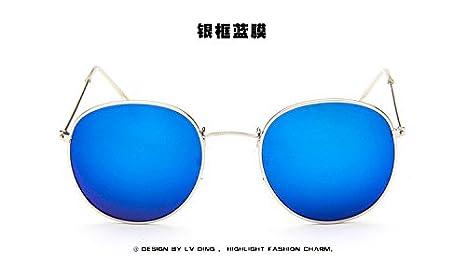 Sunyan Star Zheng Jia im gleichen Stil rosa Sonnenbrille Frau tide Koreanische Version des alten runden Rahmen kleine Gesicht Mode net Rot Sonnenbrille, Silver White Box