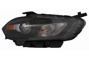 Depo 334-1136L-AS2 Headlight Assembly (DODGE DART 13-14 ASSEMBLY HALOGEN BLACK TRIM DRIVER -