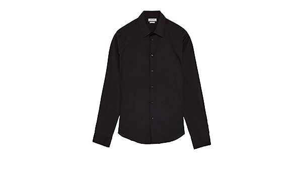 Zara - Camisa Casual - para Hombre Negro S: Amazon.es: Ropa