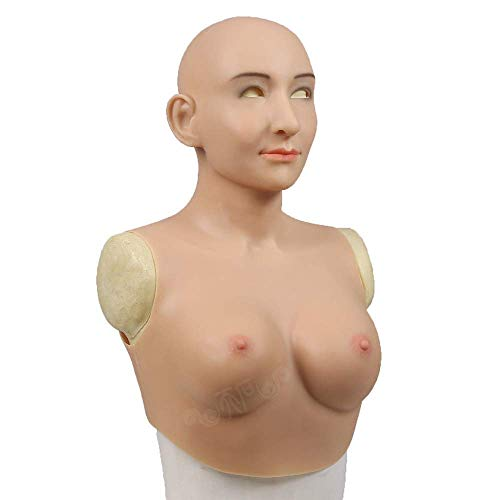 ZYX Silicone Head Cover Beauty with Fake Chest