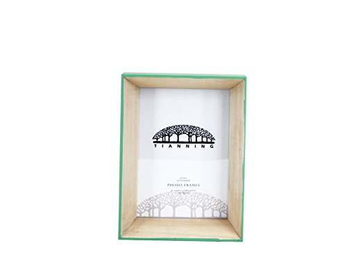 Tianning Wooden Box Photo Frame Handmade Table Top picture Frame (57, GREEN)