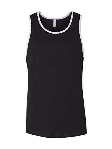 Next Level Men's Stylish Soft Jersey Tank Top, Blk/Hthr Gray, ()