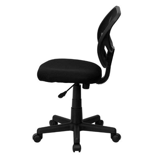 DK Furniture Mid-Back Black Mesh Swivel Task Chair