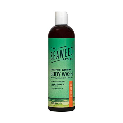 The Seaweed Bath Co. Body Wash, Citrus Vanilla, Natural Organic Bladderwrack Seaweed, SLS and Paraben Free, 12oz