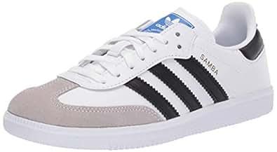 adidas Kids Unisex Originals Samba OG Shoes White Size: 1 Big Kid