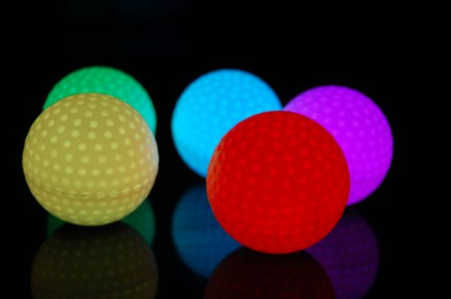 Set of 4 Litecubes RAINBOW Light up LED Golf Balls ()