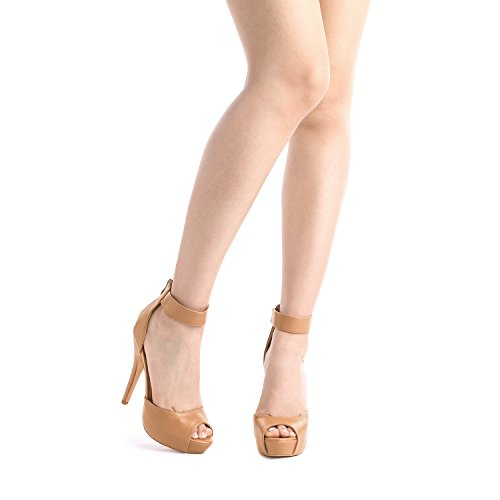 Women's Heel Pump Swan Shoes Nude Dress Plaform Pu High DREAM PAIRS U54IqI