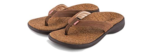 (SOLE Women's Monterey Casual Flip, Brown, W 8)