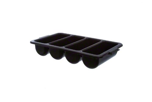 Thunder Group PLFCCB001B 4-Compartment Cutlery Box, Black