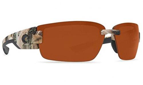 Costa Del Mar Rockport Sunglasses, Mossy Oak Shadow Grass Blades Camo, Copper 580P - Mar Del Costa Sunglasses Camo