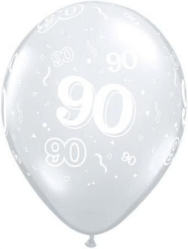 Age 90-A-Round 90th Birthday Diamond Clear 11