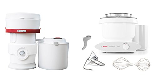Bosch MUM6N10UC Universal Plus Stand Mixer, 800 watt, 6.5-Quarts with Nutrimill Plus Grain Mill