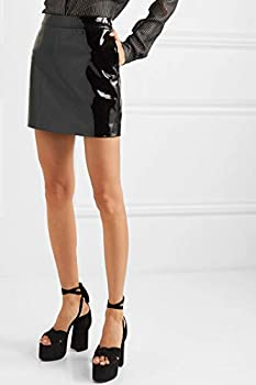 Lust FOR - Mini Falda de Piel de Charol para Mujer Negro Negro (36 ...