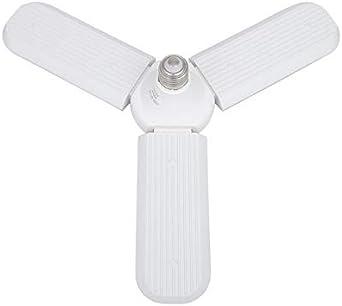 60W E27 B22 LED Folding Ceiling Fan Blade Light 360° Angle Adjustable Lamp Bulb