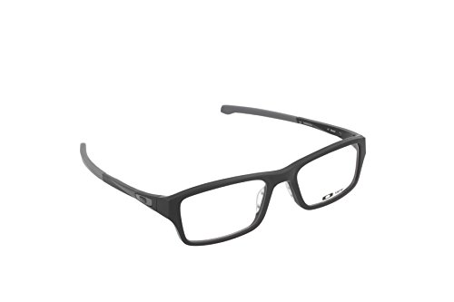 Oakley Chamfer OX8039-0153 Eyeglasses Satin Black Clear Demo 53 - Oakley Mens Glasses Reading