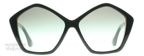 Miu Miu 11NS 1AB0A7 Black Culte Butterfly Sunglasses Lens Category 2 Size - Butterfly Miu Miu