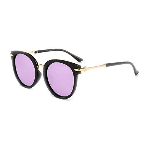 WLHW Lunettes Couleur de Black UV400 de Hommes Lunettes Polarisées UV Classique Mode purple Soleil Miroir frame Réel Lunettes Femmes Soleil de et soleil rOqrnC46w