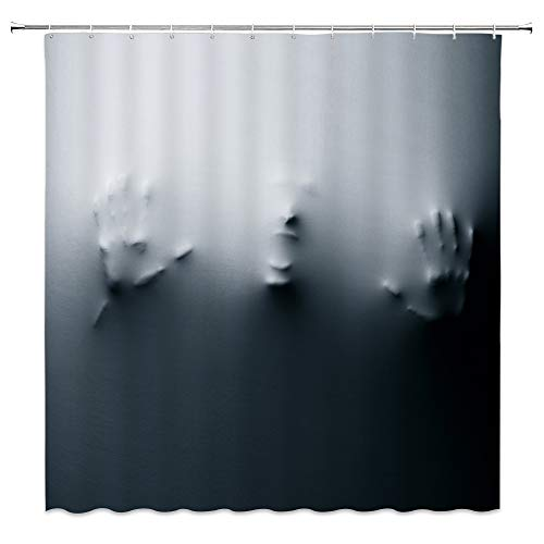 Feierman Halloween Shower Curtain Decor Horror Ghost Bathroom Curtain Decor Waterproof Machine Washable with Hooks 70x70Inches]()