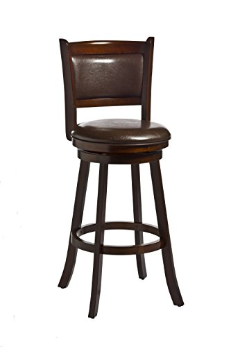 Hillsdale Dennery Swivel Bar Stool, Cherry