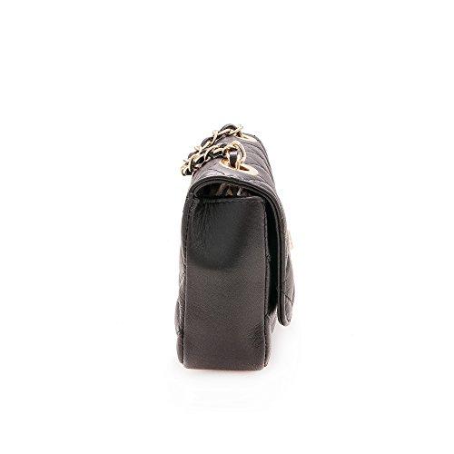 Zerimar Elegant gepolsterte Handtasche aus hochwertigem Rindsleder Mehrere Fächer Damen Handtasche, Tasche Frau,leder beutel, leder beutel damen, Grösse: 19x11x6 cm Farbe Schwarz