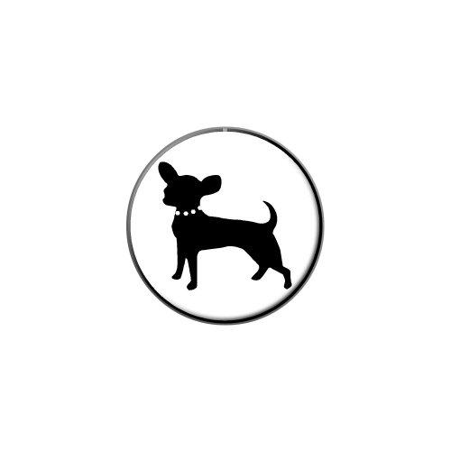 Chihuahua Metal Lapel Tack Pinback