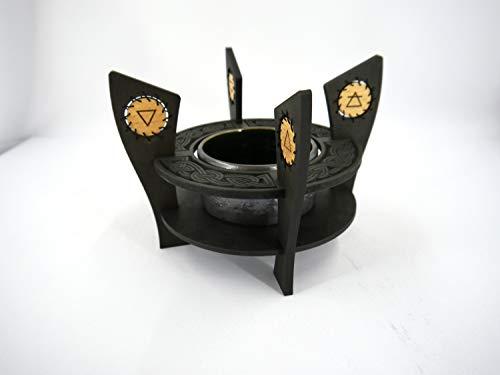 Incense burner in celtic style // Wiccan Elements // Ceramic burner // Handmade // wiccan burner // Smudges burner ()