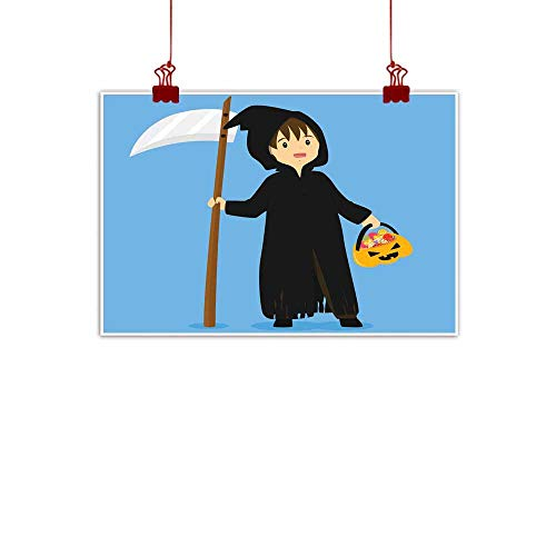 Mannwarehouse Modern Frameless Painting Halloween Grim Reaper Costume Vector Bedroom Bedside Painting 24