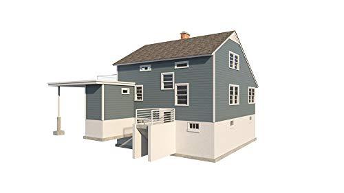 (2 Story Farmhouse Plans - DIY Farm Cottage Country House w/Basement 2080 sq/ft)