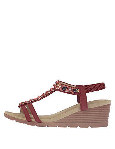 NIKKI ME Women's Platforms Bordeaux