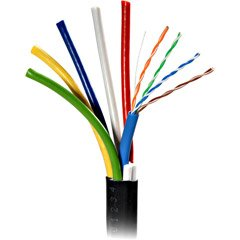 Scp Cat5e Cable - Scp 250FT Spool RGB-5 with CAT5E Inside Jacket