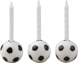 Birthday - Soccer Ball Candle Holders Set of (Foot Candlestick)