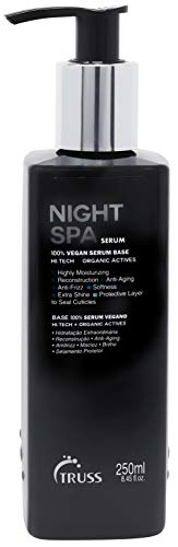 TRUSS Night Spa Serum - Overnight Hair Treatment - 100% Vegan Wax Base, Organic Actives - Moisturizing, Anti-Aging, Anti-Frizz Formula - Offers Softness, Extra Shine, Seals Hair Cuticle, 8.45 fl. oz.