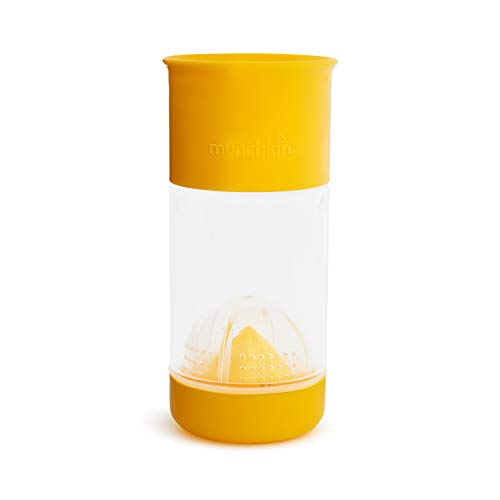 Munchkin Miracle 360 Fruit Infuser Sippy Cup, 14 Ounce, Yellow