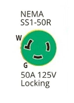 30A 12 Cordset with LED Ergo Grip 199116 Marinco