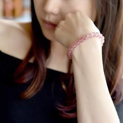 ストロベリークリスタルブレスレットの女性のピンクのクリスタルバングル