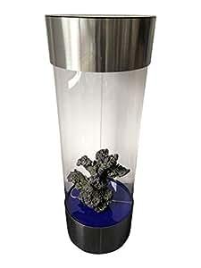 Acuario en forma de columna, hecho de acero inoxidable y acrílico, 210 L de capacidad: Amazon.es: Productos para mascotas