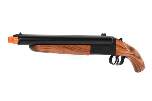 300 fps hudson metal double barrel mad max sawed off gas shotgun(Airsoft Gun) by HS