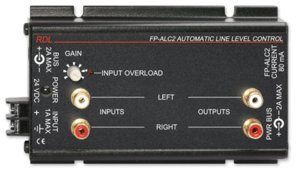 RDL FP-ALC2 Phono Jack 10 dBV Output, Ground Referenced, 24 Vdc 80 mA, Mountable Compact Size - Power Supply Included