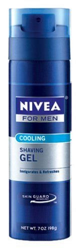 Nivea For Men Cooling Shave Gel, 7-Ounce Canister (Pack of 12)